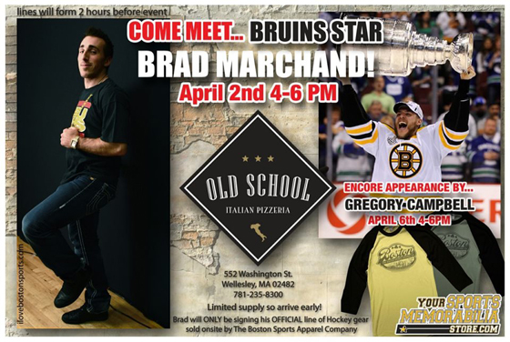 Come meet Boston Bruins star Brad Marchand!